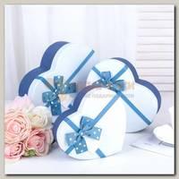 КП Сердце 'Синее с белой крышкой' 22,2 х 19,5 х 9 cм