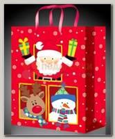 Пакет 'Санта с друзьями' S 11*14 см
