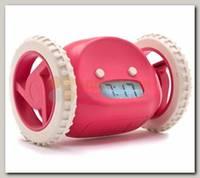 Часы Будильник 'Инопланетянин' розовый