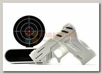 Часы будильник 'Пистолет' белый
