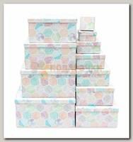 Коробка подарочная Квадрат Мозаика 18 * 18 * 9 см