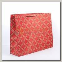 Пакет 'Красная клетка' XL 50 * 15 * 38 см
