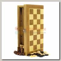 Игра настольная 3 в 1: нарды, шахматы, шашки 30*30 см