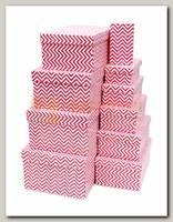 Коробка подарочная Прямоугольник 'Розовый зигзаг' 13,5 * 8 * 5 см