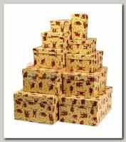 Коробка подарочная Прямоугольник 'Ленивец' 17,5 * 11 * 7 см
