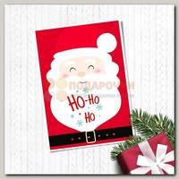 Открытка 'С новым годом' Дед мороз хо-хо 10,5 * 7,5 см