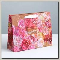 Пакет 'Поздравляю Цветочное настроение' MS 23 * 8 * 18 см
