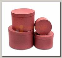 Коробка подарочная Цилиндр Бордовый свитер 13,5 * 13,5 * 8 см