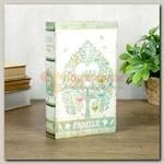 Книга сейф 'Семейное дерево' Зеленая 13 * 21 * 5 см