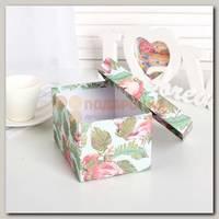 Коробка подарочная 'Розовый фламинго' малая