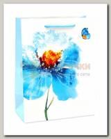 Пакет 'Синий цветок' MS 18 * 23* 10 см
