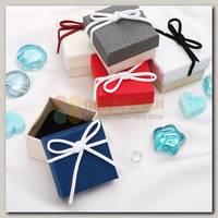 Коробка подарочная под кольцо 'Замшевый бантик'