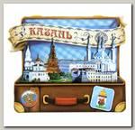 Магнит 'Казань' чемодан