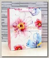 Пакет 'Акварельные цветы' MS 18 * 23 * 10 см