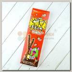Печенье палочки шоколадные с взрывающейся карамелью Sunyoung Popping candy, 54 гр.