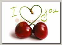 Открытка 'Вишенки  i love you'
