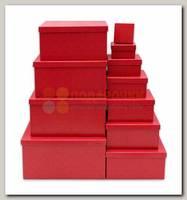 Коробка подарочная Квадрат Марсала 21,5 * 21,5 * 11 см