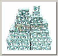 Коробка подарочная Квадрат Ламы 5,5 * 5,5 * 2,5 см