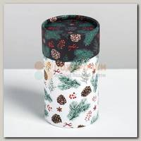 Коробка подарочная Тубус 'С Новым годом!' 8 * 8 * 14.5 см