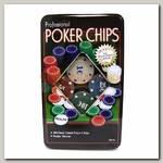 Набор фишек для покера (металлическая коробка)