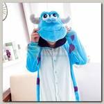 Кигуруми 'Дракон' голубой р-р M