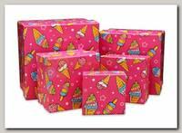 Коробка подарочная Квадрат 'Мороженое' 6 * 6 * 3 см