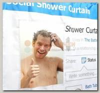 Шторка для ванной 'Социальная сеть'
