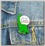 Значок 'Динозавр' металл
