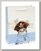Пакет 'Кот пират' ML 26 * 32 * 13 см