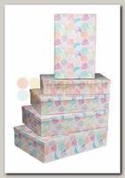 Коробка подарочная Прямоугольник 'Мозаика' 38 * 26* 9 см