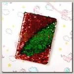 Блокнот 'Bright life' с пайетками красный/зеленый