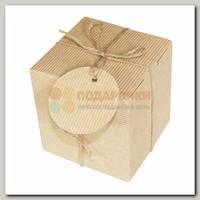 Коробка подарочная 'Крафт. КУБ' рифленая