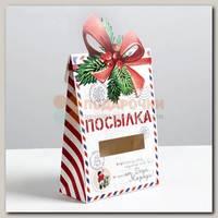 Коробка сборная 'Посылка от Деда Мороза' 15 * 7 * 22 см