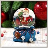 Шар со снегом 'Дед Мороз с мешком подарков' 5 * 7 см