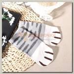 Носки 'Лапки' серые в полоску