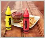 Диспенсеры для кетчупа и горчицы 'Маркеры' (набор 2 шт.)