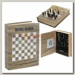 Набор для вина 'Wine book' с шахматами 16 * 4 * 21 см