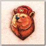 Значок 'Медведь Be brave' Деревянный