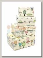 Коробка подарочная Прямоугольник Воздушные шары 11 * 7 * 5 см