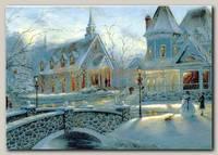 Открытка 'Зимний пейзаж'