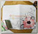 Обложка на паспорт 'Цветы розовые'