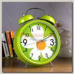 Часы Будильник 'Гигант' Ромашка