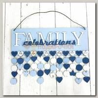 Семейный календарь голубой