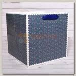 Пакет 'Звезды синий широкий' ML 22 * 22 * 22 см