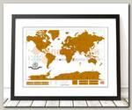 Скретч карта мира 'True Map' (со стирающимся слоем)