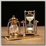 Песочные часы 'Лампа' с подсветкой коричневые