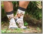 Носки шерстяные 'Олень' белые размер 44-46
