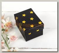 Коробка подарочная 'Золотые звезды' на черном