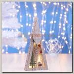 Декор 'Елка Дед Мороз' с подсветкой 29*13*3 см