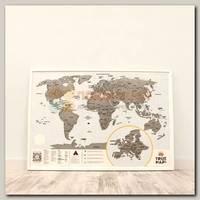Скретч карта 'True Map Plus' (со стирающимся слоем)
